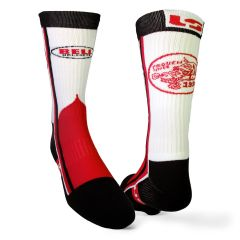 BELL RACING SOCKS - BLACK/OPTIC WHITE